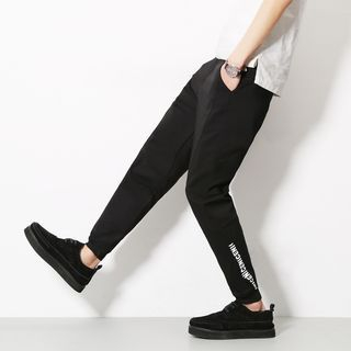 Lettering Tapered Pants