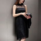 Set: Ribbed Sweater + Sleeveless Lace Dress 1596
