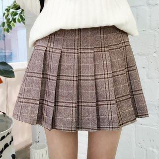 Plaid Pleated Mini Skirt 1055064882