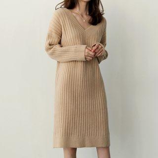 Ribbed V-Neck Sweater 1063879015
