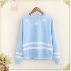Star Print Striped Sweatshirt 1596