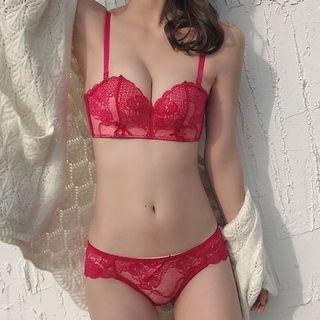 Set: Lace Bra + Panties 1064934258