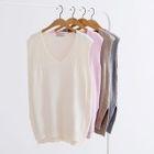 Ribbed Sleeveless V-neck Knit Top 1596