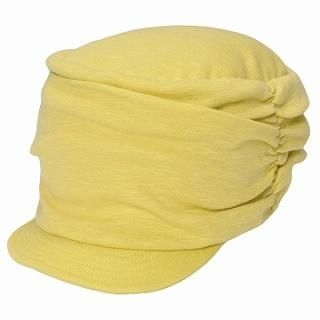 Picture of GRACE Gathered Casquette Yellow - One Size 1022173434 (GRACE, Mens Hats & Scarves, Japan)