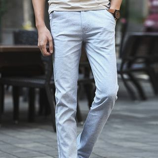 Linen Slim Fit Pants