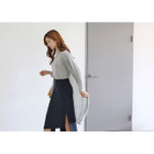 Set: V-Neck Long Cardigan + Elbow-Sleeve T-Shirt 1596
