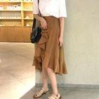 Ruffle A-Line Chiffon Skirt 1596