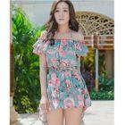 Floral Swim Shorts / Set: Floral Bikini + Cover 1596