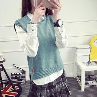 Knit Sleeveless Top 1051454119