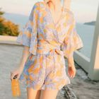 Set: Print Bikini + Top + Shorts 1596
