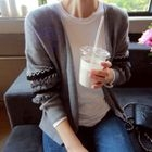 Open-Front Frill-Sleeve Cardigan 1596