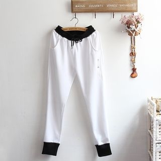 Contrast Trim Sweatpants 1054293834
