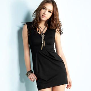 Buy Joanne Kitten Sleeveless V-Neck Empire Dress 1023041026