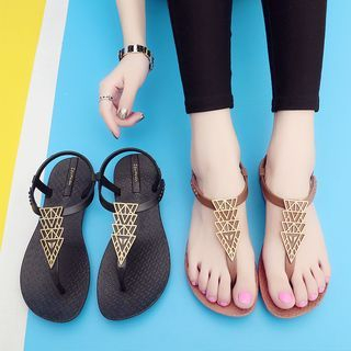 Image of Patterned Flat Sandals