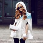 Color-Block Hooded Cape 1596