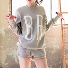 Set : Letter Sweatshirt + Shorts 1596