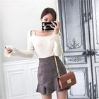 Tie-Shoulder Ribbed Sweater 1596