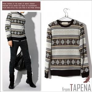 Buy TAPENA Nordic Print Sweater 1021936158