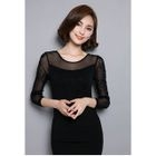 Lace Panel Long-Sleeve Top от YesStyle.com INT