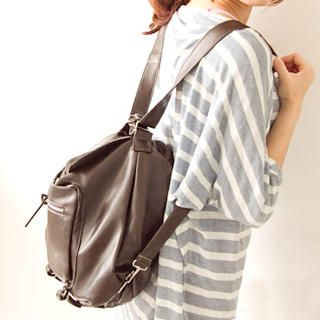 Buy Fashion Lady Faux-Leather Convertible Backpack 1023046748