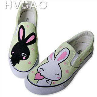 Picture of HVBAO Little Rabbits Slip-Ons 1016480571 (Slip-On Shoes, HVBAO Shoes, Taiwan Shoes, Womens Shoes, Womens Slip-On Shoes)