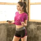Sports Set: Short-Sleeve Top + Piped Shorts 1596