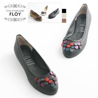 Picture of FLOY SHOES Bead-Accent Flats 1023054071 (Flat Shoes, FLOY SHOES Shoes, Korea Shoes, Womens Shoes, Womens Flat Shoes)