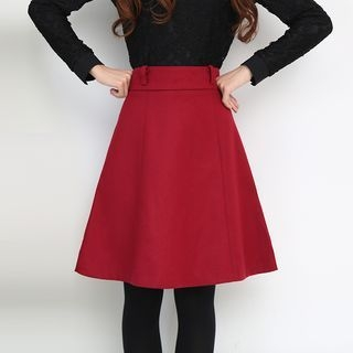 Plain A-Line Skirt 1053329420