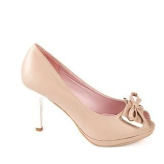 Buy Cocoeve Open Toe Bow Trim Pumps 1022364285