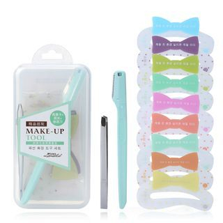 Set: Eyebrow Stencils + Razor + Tweezers 1057945099
