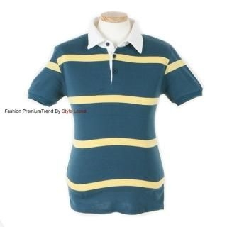 Buy Yellow Jacket Thick Striped Polo Shirt 1022571057