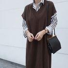 Cap-Sleeve Sweater Dress 1596