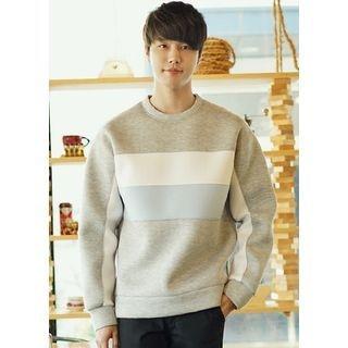 Color-Block Neoprene Sweatshirt 1057598859