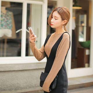 Long-Sleeve Ribbed T-Shirt 1052756960