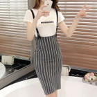 Stripe Knit Jumper Skirt 1596