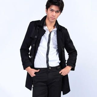 Picture of Justyle Belted Double-Breasted Trench Coat 1022300921 (Justyle, Mens Outerwear, China)
