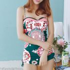 Set: Patterned Swimsuit + Cover-Up 1596
