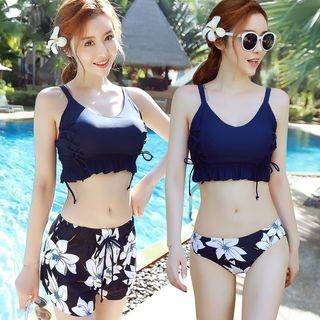 Set: Floral Print Swimshorts + Tankini 1064560704