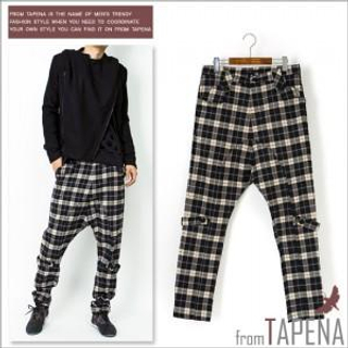 Buy TAPENA Plaid Drop-Crotch Pants 1021627633