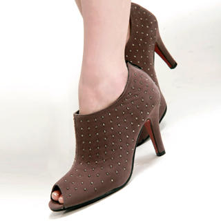Picture of Kvoll Studded Peep-Toe Pumps 1022452721 (Pump Shoes, Kvoll Shoes, China Shoes, Womens Shoes, Womens Pump Shoes)