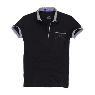 Picture of Justyle Contrast-Trim Polo Shirt 1022550970 (Justyle, Mens Tees, China)