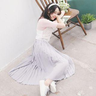 Pleated Chiffon Skirt