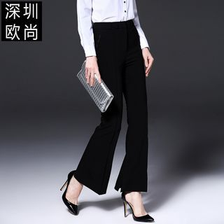 Boot-Cut Slim-Fit Pants 1055008822