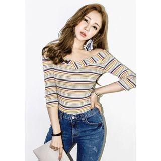 Striped Ribbed Slim-Fit T-Shirt 1049745614