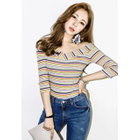 Striped Ribbed Slim-Fit T-Shirt 1596