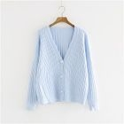 V-Neck Ribbed Cardigan 1596