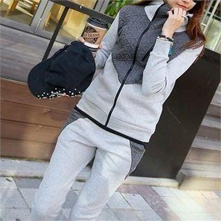 Set: Color-Block Hoodie + Sweatpants 1054040498