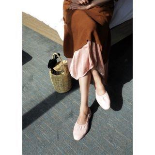 Band-Waist Long Skirt 1058342995