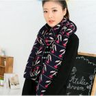 Patterned Knit Scarf 1596