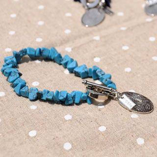 Sun Shine Stone Bracelet(skyblue)
